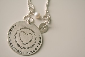 {family necklace by the lovely Lisa Leonard}